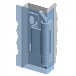 Weld-on hinge 120° ZS02