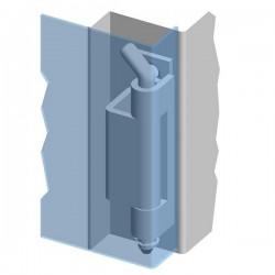 Weld-on hinge 120° ZS03