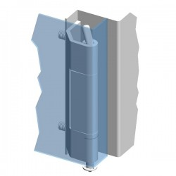 Weld-on hinge 120° ZS04
