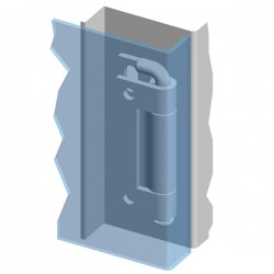 Weld-on hinge 120° ZS07
